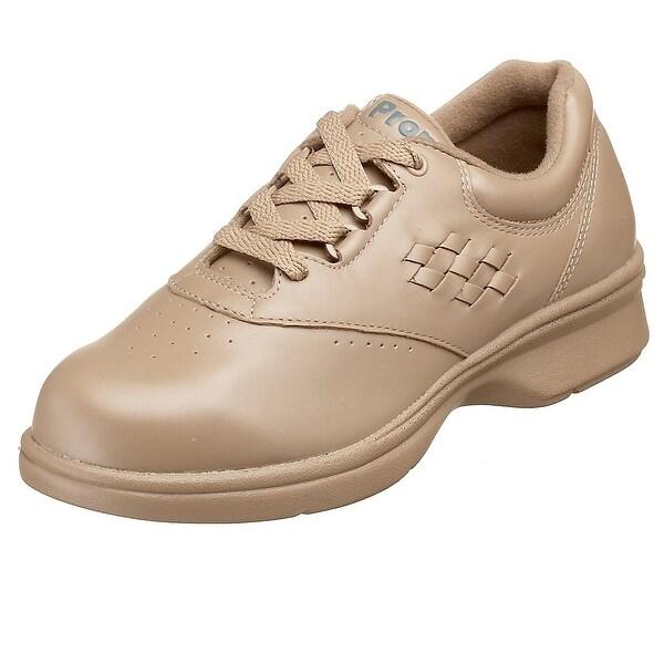 Propét Womens Vista Walker Leather Low Top Lace Up Walking Shoes