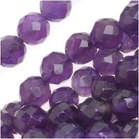 Amethyst Gemstone *A Grade* 6mm Faceted Round Beads 15.5 Inch Strand