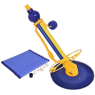 Costway Automatic Swimming Pool Cleaner Set Clean Vacuum Inground Above Ground W/12 Hose