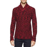 Calvin Klein Mens Pullover Sweater Wool Blend Cable Knit