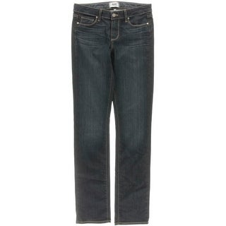 Paige Womens Straight Leg Jeans Stretch Low-Rise