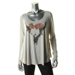 We The Free Womens Graphic Long Sleeves Pullover Top - L