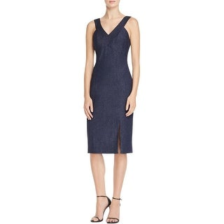 Laundry by Shelli Segal Womens Cocktail Dress Shimmer Slit