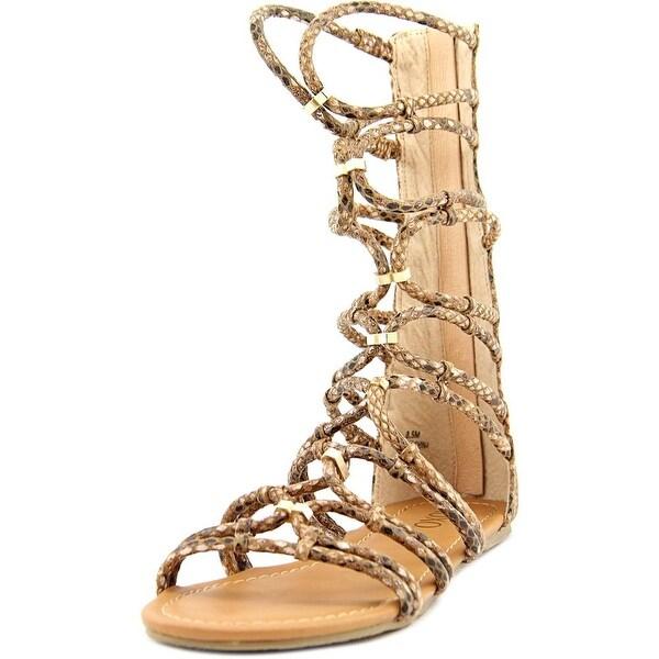 XOXO Gizella Women Open Toe Synthetic Tan Gladiator Sandal