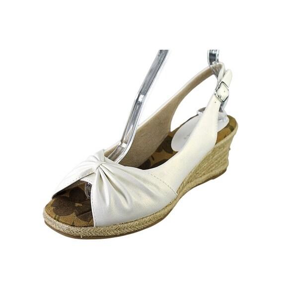 Easy Street Monica Women W Open Toe Synthetic White Wedge Sandal