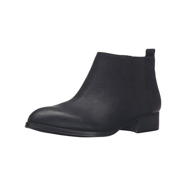 Nine West Womens Nolynn Booties Leather Almond Toe