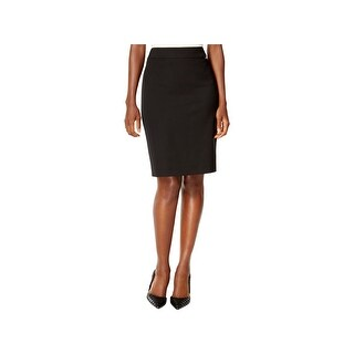 Tahari ASL Womens Petites A-Line Skirt Solid Back Zipper