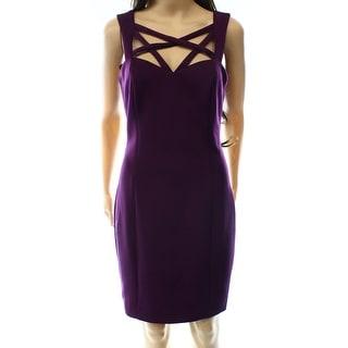 Guess NEW Purple Plum Women's Size 8 Sheath Stretch Strappy Dress