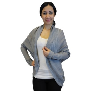 Women Light Sweater Knit Shrug Cardigan, S-M-L-XL, 6 Colors