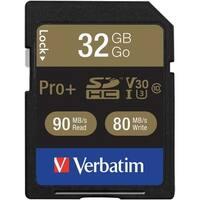 Verbatim(R) 49196 Class 10 32GB Pro Plus 600X SDHC(TM) Memory Card