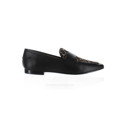 Emporio Armani Womens Black Loafers Size 7
