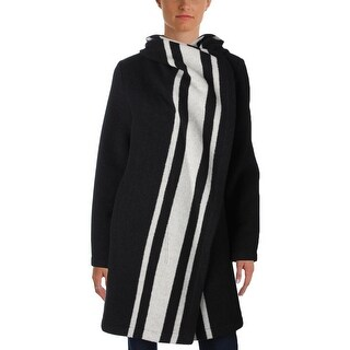 Vince Camuto Womens Coat Wool Striped