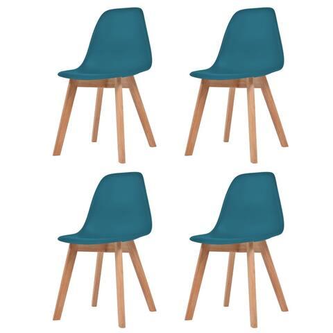 vidaXL Dining Chairs 4 pcs Turquoise Plastic