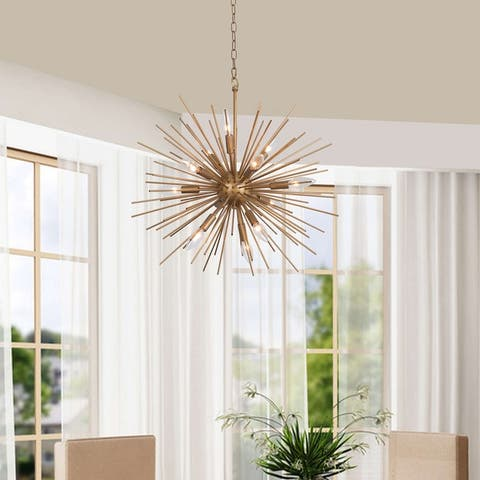 Valeria 12-light Shiny Bronze Sputnik Sphere Chandelier