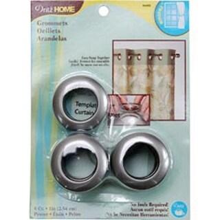 """Pewter - Curtain Grommets 1"""" Inner Diameter Plastic 8/Pkg"""