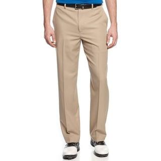 PGA Tour Stretch Flat Front Golf Pants Chinchilla Beige 32 x 32
