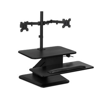 Mount-It! Sit Stand Workstation with Dual Monitor Mount