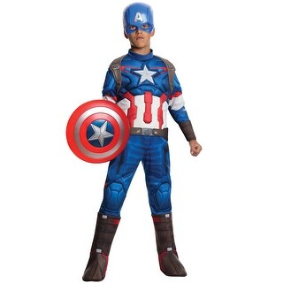 Rubies Avengers 2 Deluxe Captain America Child Costume - Blue - Large