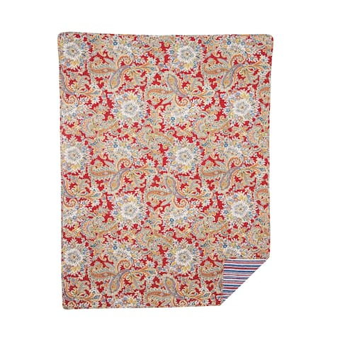 Rhapsody Paisley Quilted Throw
