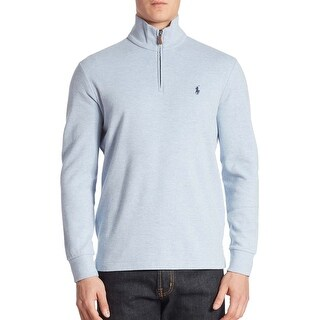 Polo Ralph Lauren Big and Tall Half Zip Pullover Sweater Light Blue (Option: 3xlt)