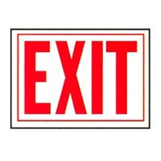 Hy-Ko Products SS-2W 10 x 14 in. Exit Sign