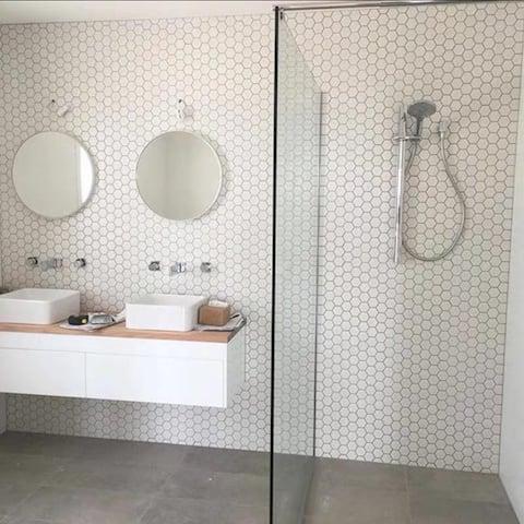 """2"""" x 2"""" Porcelain Mosaic Tile White (10 sheets/ 8.3 sq ft)- CASE - 12""""X12"""" case of 10"""