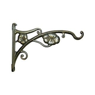 "Panacea 85643 Flower Wall Bracket, 9"", Gold"