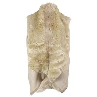 Calvin Klein Women's Reversible Faux Fur/Faux Suede Vest