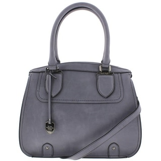 London Fog Womens Satchel Handbag Leather - LARGE