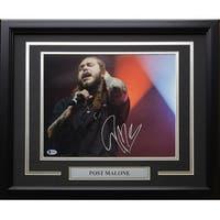 Post Malone Signed Framed 11x14 Music Photo BASE22837