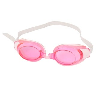 Unique Bargains Stretchy Strap Pink Clear Lens Swim Goggles Earplugs Nose Clips Combo For Girls Ladies