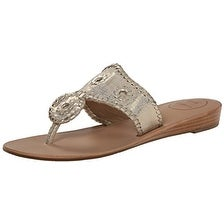 Jack Rogers Women's Capri Etched Dress Sandal, Platinum, 7.5 M US