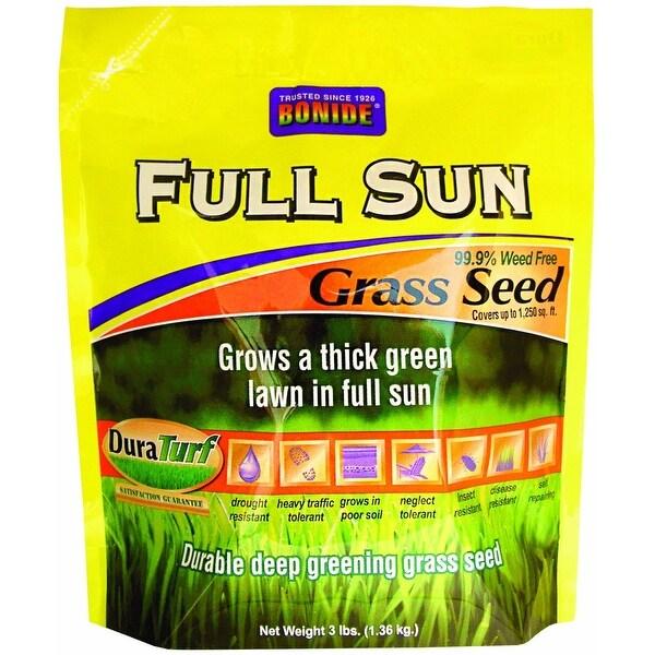 Bonide 60201 Full Sun Grass Seed, 3 Lb