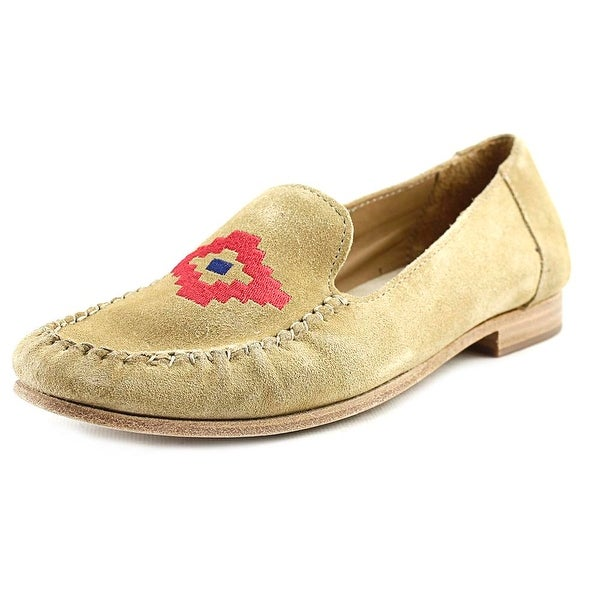 Soludos Loafer Embroidered Women Stone Flats