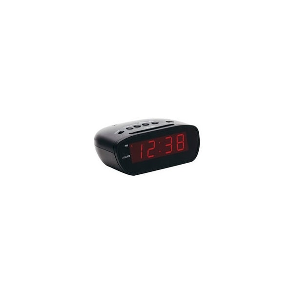 Equity e30902 12-volt super-loud 60-90 decibel led alarm clock with snooze button