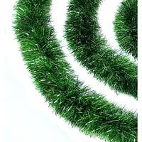 50' Traditional Green Christmas Tinsel Garland - Unlit