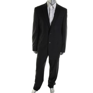 Hickey Freeman Mens Wool Blend Lined Two-Button Suit - 36xs