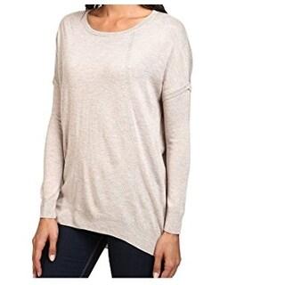 Splendid NEW Beige Womens Size Small S Crewneck Quincy Wool Sweater