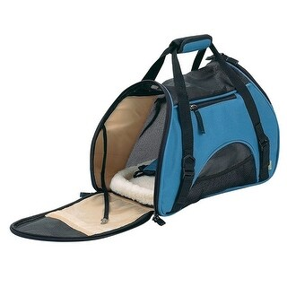 Bergan Pet Comfort Carrier With Safety Belt Loop, Blue, 17x8x11.5