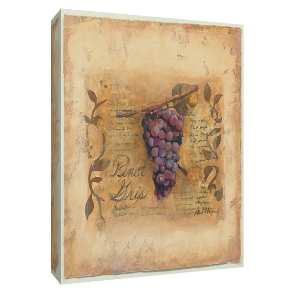 """PTM Images 9-154500 PTM Canvas Collection 10"""" x 8"""" - """"Pinot Gris"""" Giclee Fruits & Vegetables Textual Art Print on Canvas"""