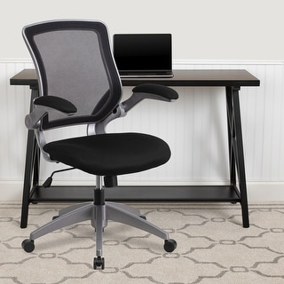Link to Mid-Back Mesh Swivel Ergonomic Task Office Chair with Flip-Up Arms Similar Items in Home Office Furniture