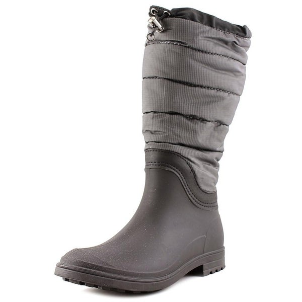 Kamik Leeds Women Round Toe Synthetic Gray Rain Boot