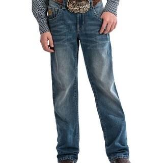 Cinch Western Jeans Boys Relaxed Bootcut Medium Stonewash
