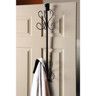Over The Door Coat Rack - Steel Construction With Five Hooks