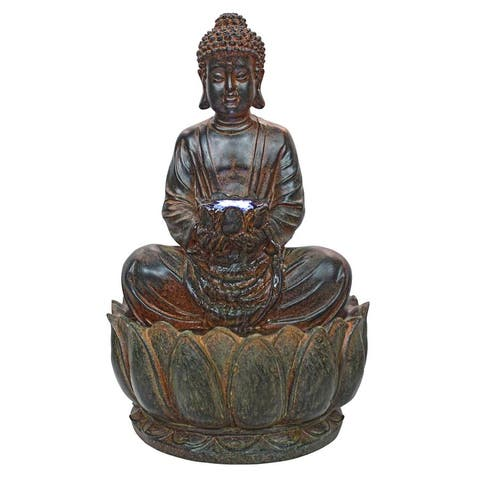 Design Toscano Endless Serenity Buddha Sculptural Fountain