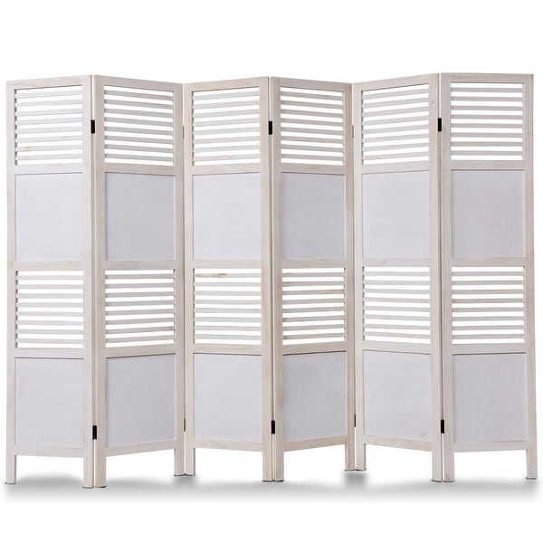 Pleasant Shop Costway 6 Panel White Room Divider Wood Folding Download Free Architecture Designs Crovemadebymaigaardcom