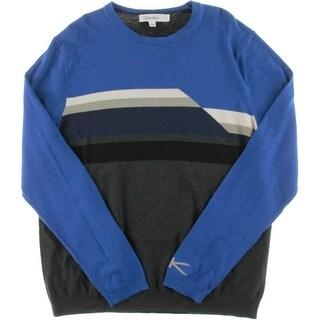 Calvin Klein Mens Knit Colorblock Crewneck Sweater
