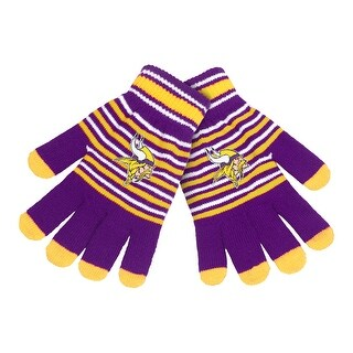 Minnesota Vikings Stripe Knit Gloves