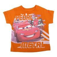 Disney Baby Boys Orange Cars Lightning McQueen Print T-Shirt 12-24M