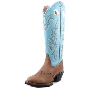 Tony Lama Buckaroo Women C Round Toe Leather Blue Western Boot